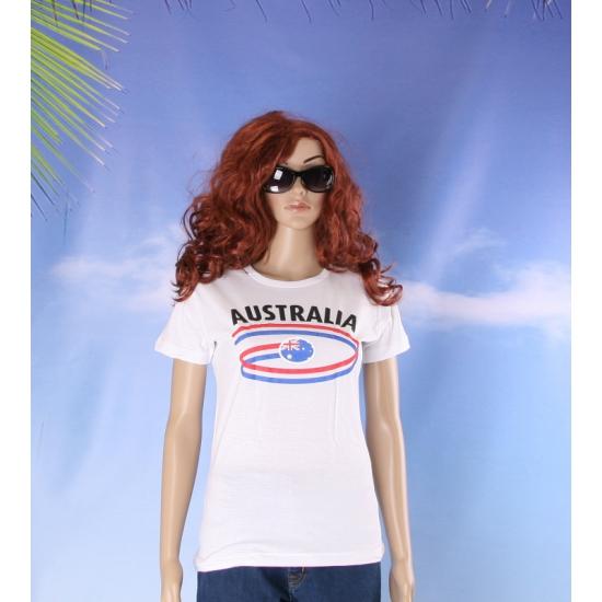 Shirts met vlaggen thema Australia voor dames