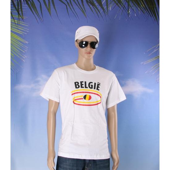 Shirts met vlaggen thema Belgie heren