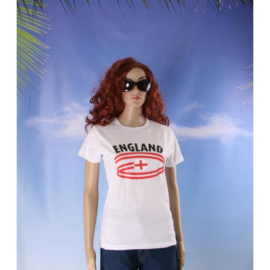 Shirts met vlaggen thema England voor dames