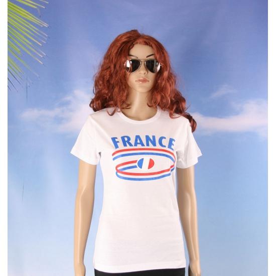 Shirts met vlaggen thema France voor dames