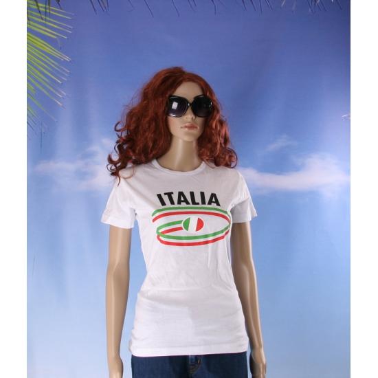 Shirts met vlaggen thema Italia dames