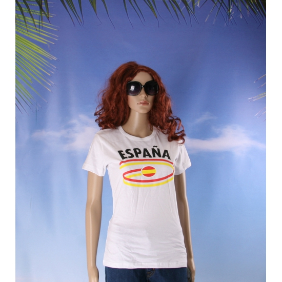 Shirts met vlaggen thema Spanje dames