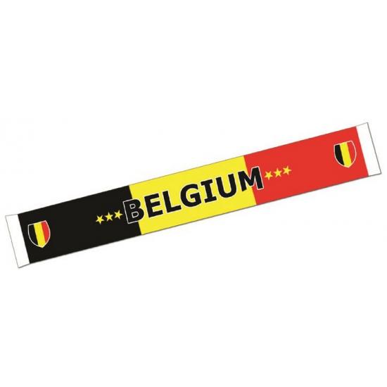Sjaal met de tekst Belgium 150 cm