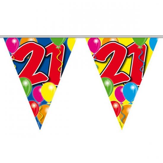Slingers 21 jaar vlaggenlijn