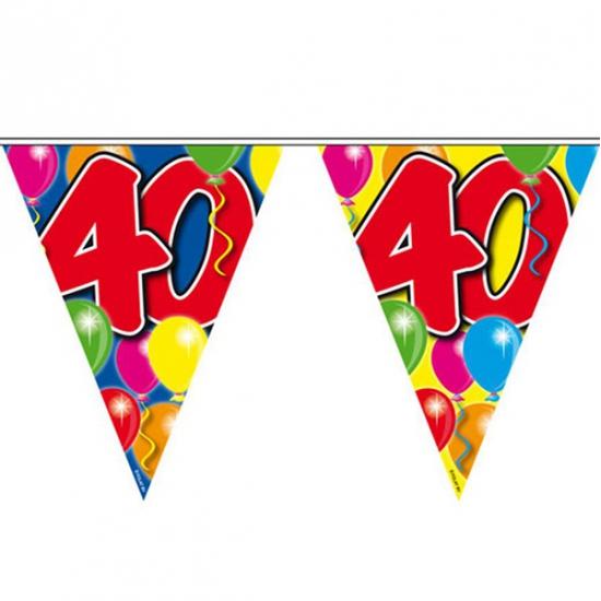 Slingers 40 jaar vlaggenlijn