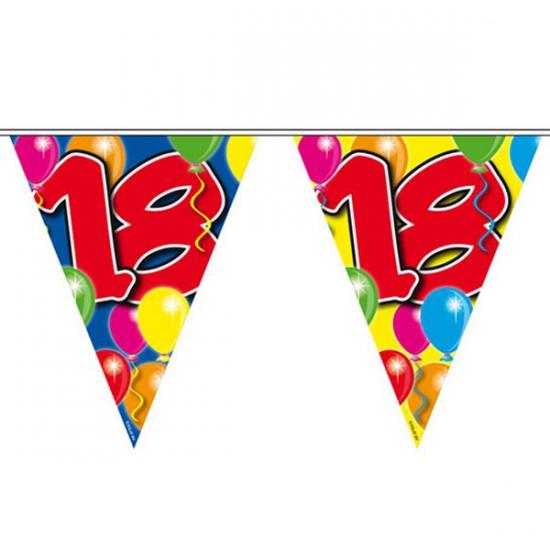 Slingers vlaggenlijnen 18 jaar