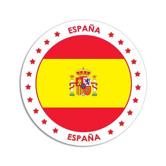 Spanje sticker rond 14,8 cm