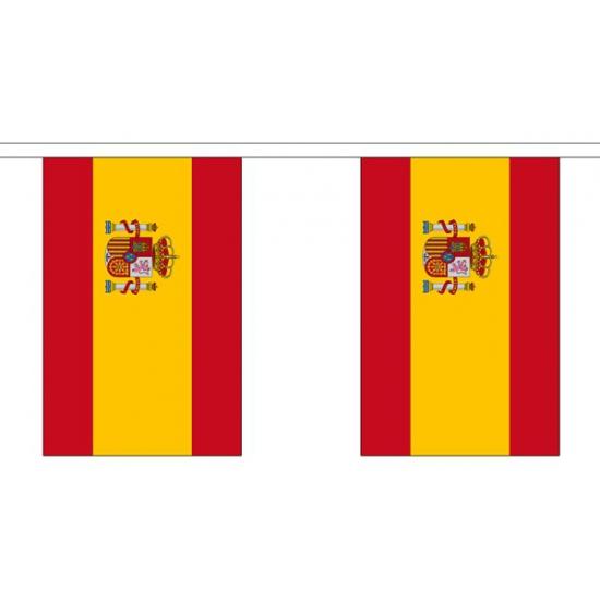 Spanje vlaggenlijn van stof 3 m