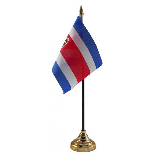 Standaard met vlaggetje Costa Rica