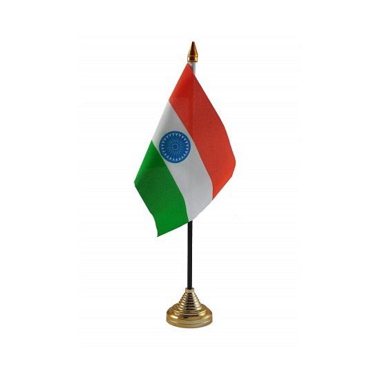 Standaard met vlaggetje India