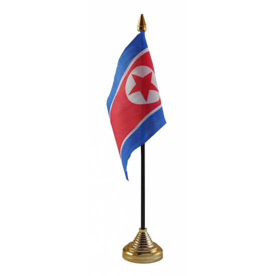 Standaard met vlaggetje Noord Korea