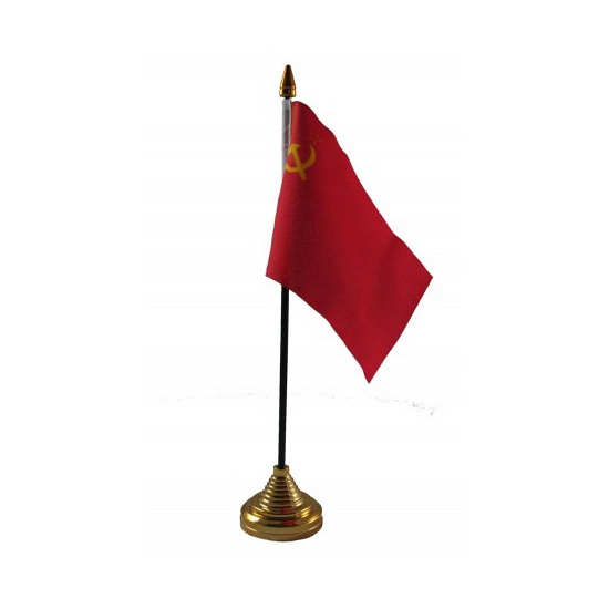 Standaard met vlaggetje Sovjet Unie