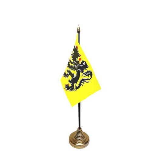 Standaard met vlaggetje Vlaanderen