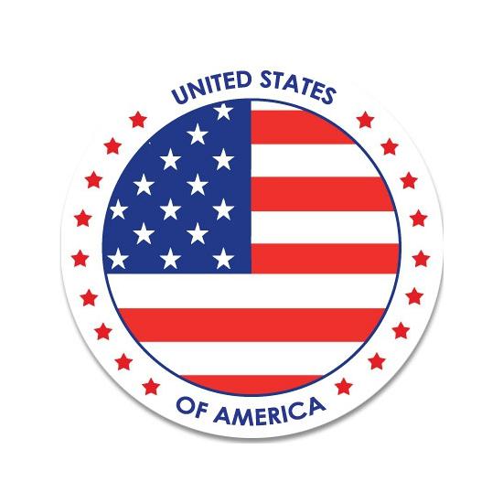 Sticker met Amerikaanse vlag