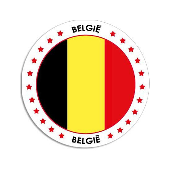 Sticker met Belgische vlag