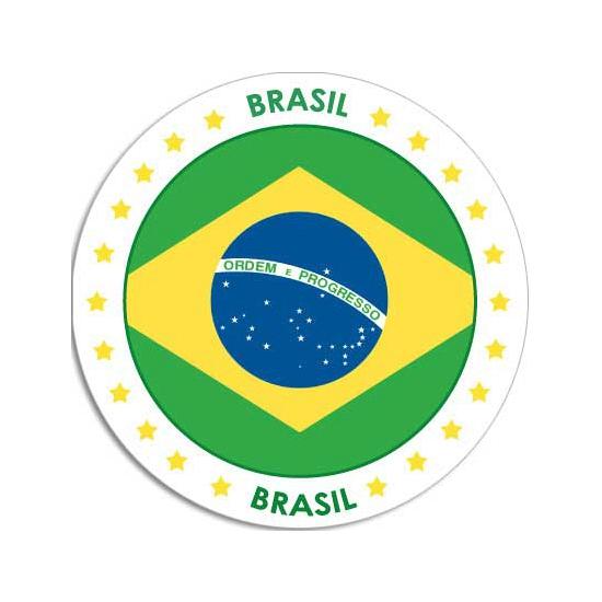 Sticker met Braziliaanse vlag