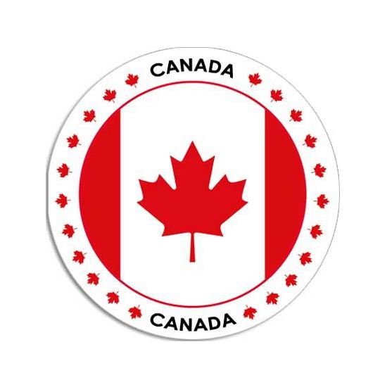 Sticker met Canadese vlag