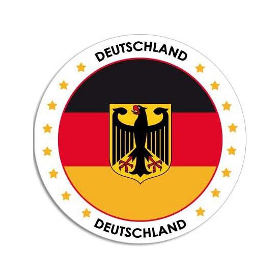 Sticker met Duitse vlag