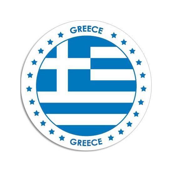 Sticker met Griekse vlag