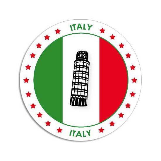 Sticker met Italiaanse vlag