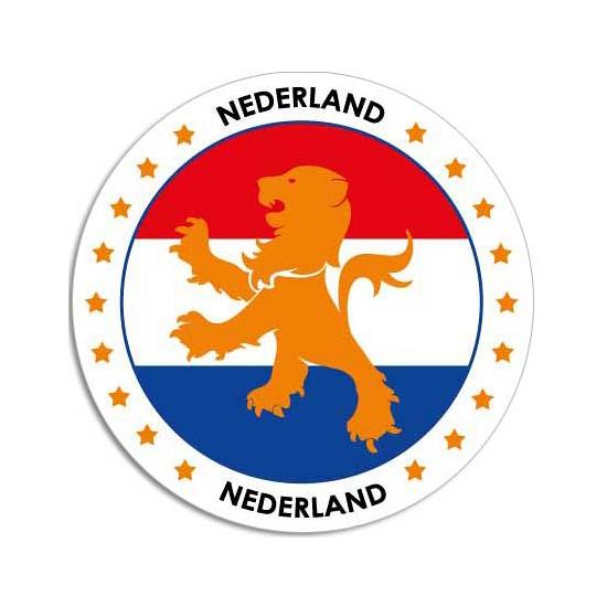 Sticker met Nederlandse vlag