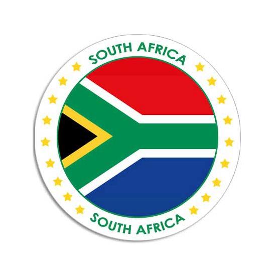 Sticker met Zuid Afrikaanse vlag