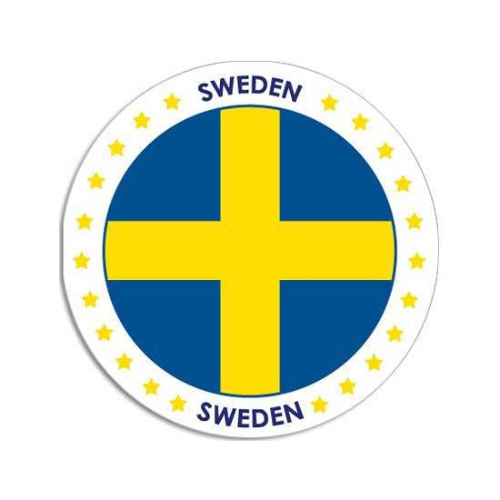 Sticker met Zweedse vlag