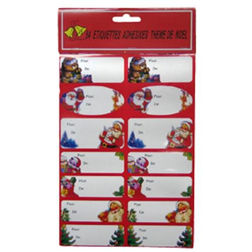 Stickerlabels kerst 84 stuks
