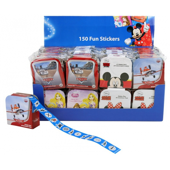 Stickerrol met 150 Cars stickertjes