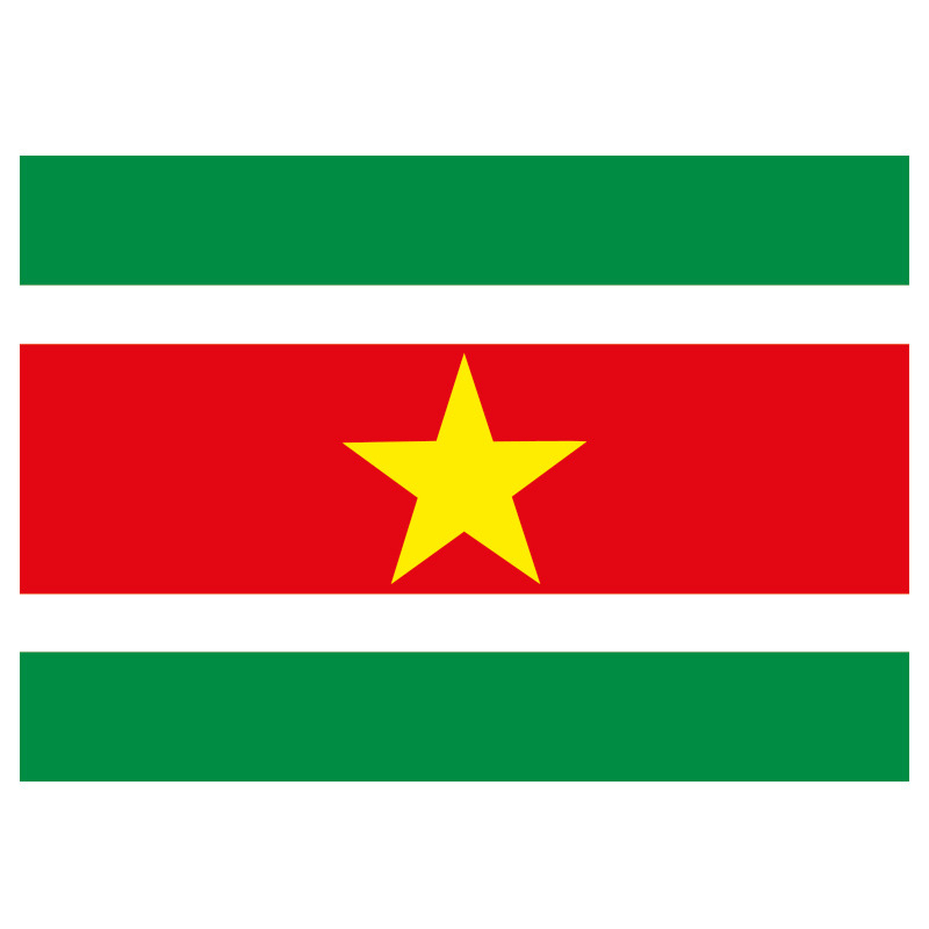 Stickers Suriname vlaggen