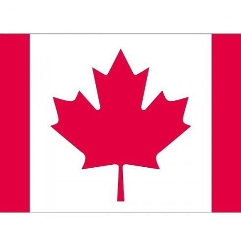 Stickers van de Canadese vlag