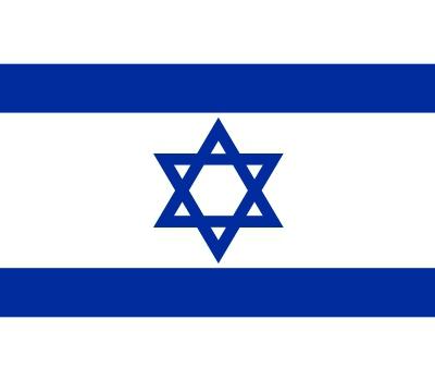 Stickers van de Israel vlag