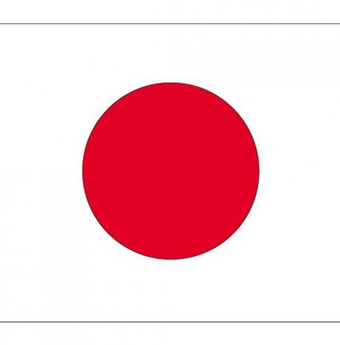 Stickers van de Japanse vlag