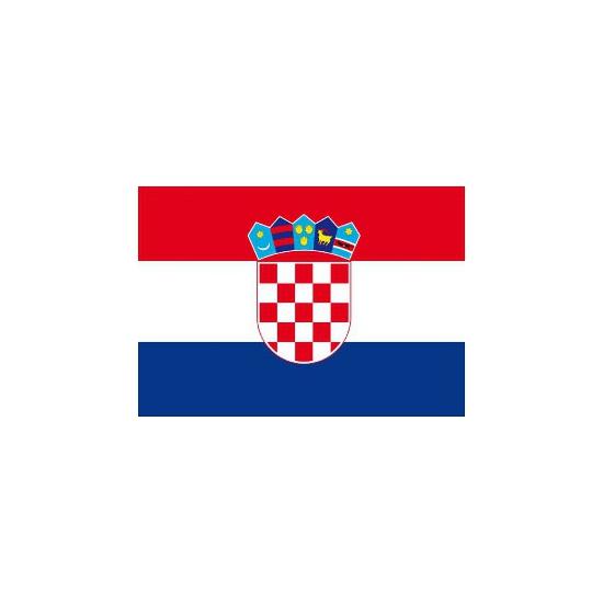 Stickers van de Kroatische vlag
