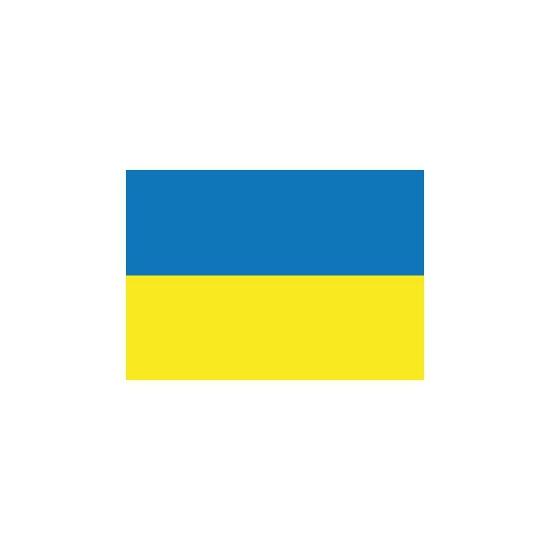 Stickers van Oekraiense vlag