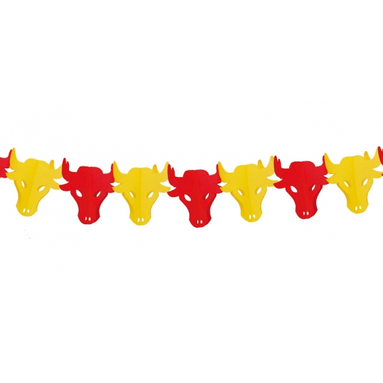 Stieren koppen slingers Spanje