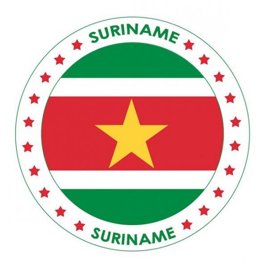 Surinaamse vlag print bierviltjes