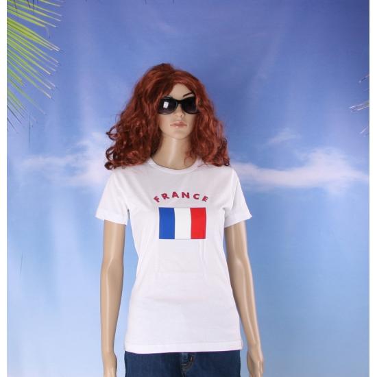 T shirt met vlag Franse print voor dames