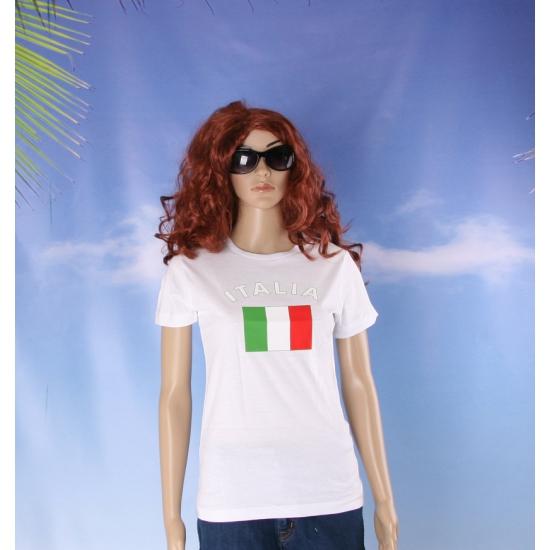 T shirt met vlag Italie print voor dames