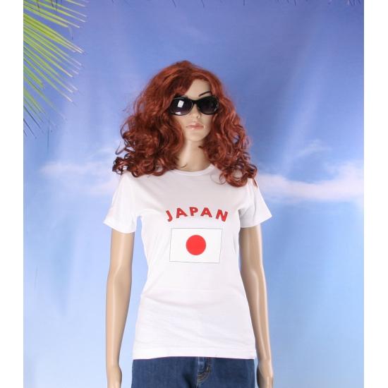 T shirt met vlag Japan print voor dames