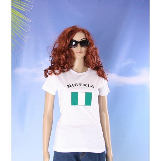 T shirt met vlag Nigeria print voor dames