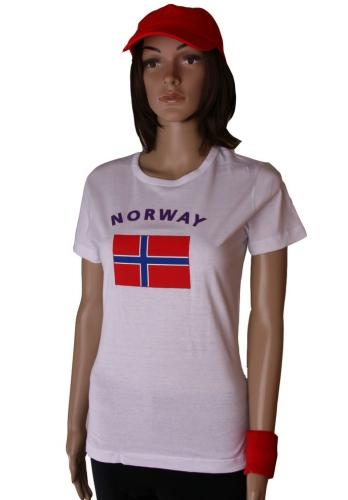 T shirt met vlag Noorwegen print voor dames