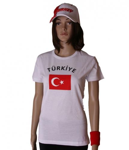 T shirt met vlag Turkse print voor dames