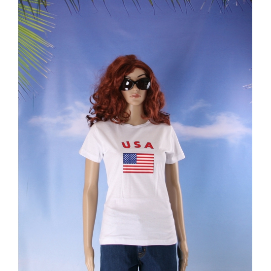 T shirt met vlag USA print voor dames