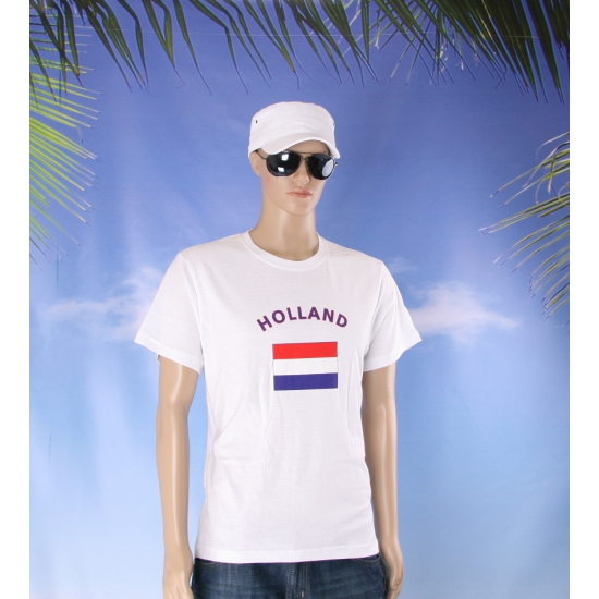 T shirts met vlag Holland print