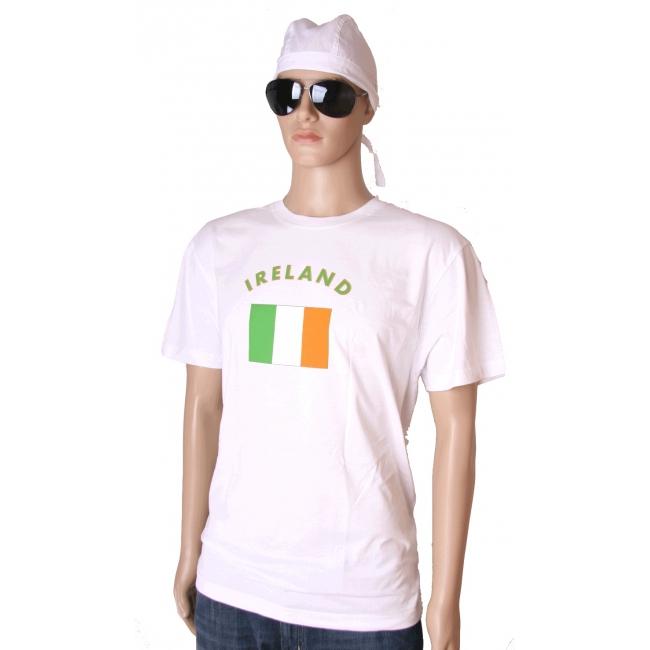 T shirts met vlag Ierse print