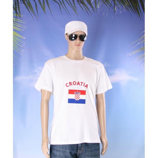 T shirts met vlag Kroatische print