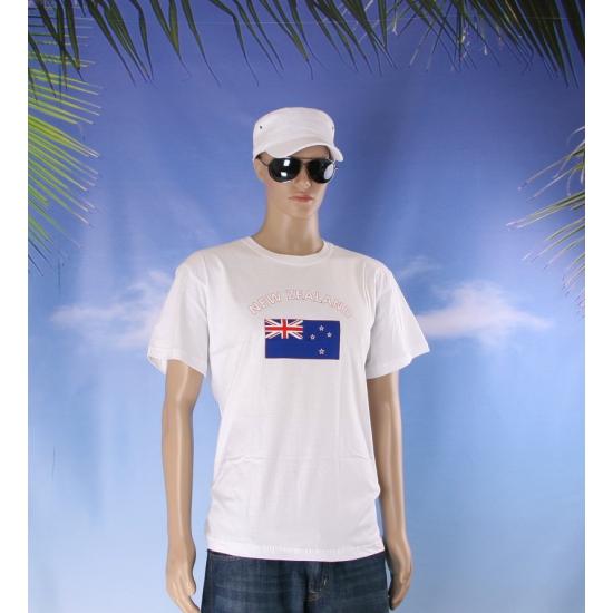 T shirts met vlag Nieuw Zeeland