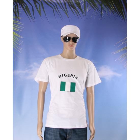 T shirts met vlag Nigeria
