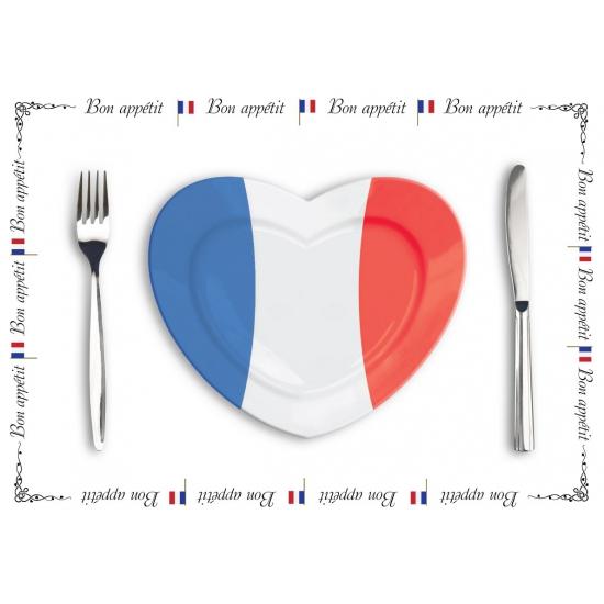 Tafel placemats Frankrijk 10 stuks